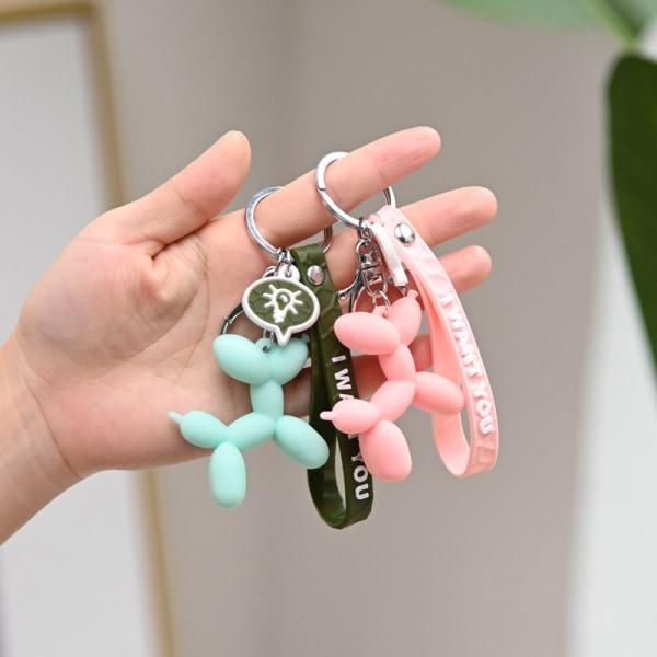 söt ballonghund nyckelring ring kreativ tecknad mobilbil penda