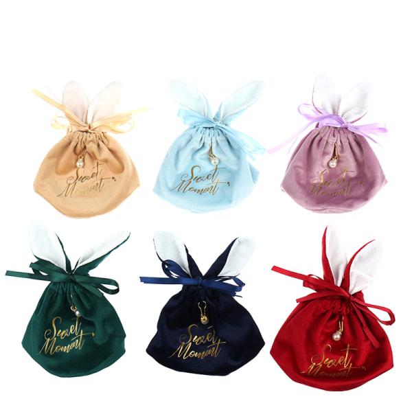 Söt påskharen choklad godis pärlväskor Kawaii presentförpackning