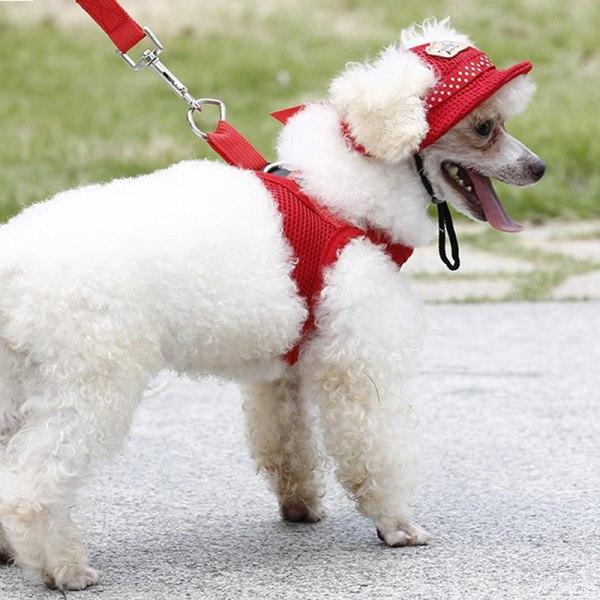 söt hund keps andas sommar justerbar solhatt tyg mesh