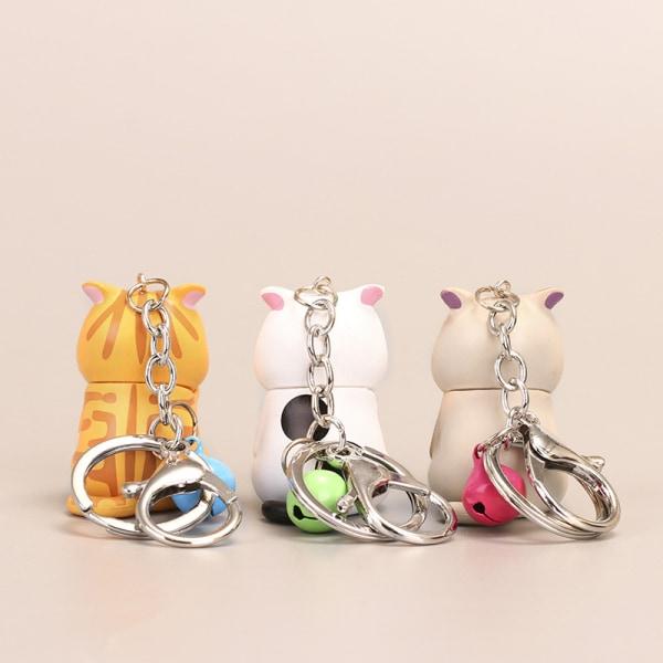 söt blyg katt nyckelringar knubbig kattunge nyckelring prydnadssäck ornamen