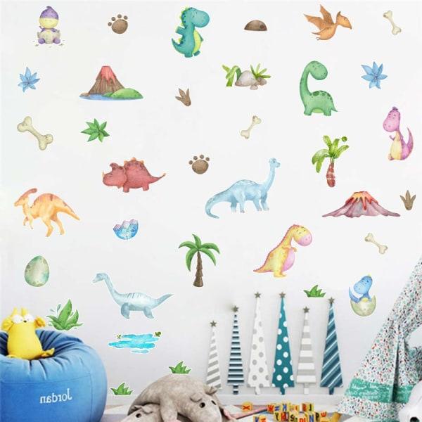 Dinosaur Baby Wall Stickers for Kids Room Cartoon Dinosaur Worl 98*38cm