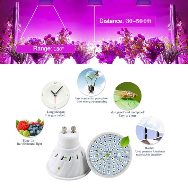 E27 Led Grow Lamp Plant Light 48/60 / 80Led Light For Plants Veg
