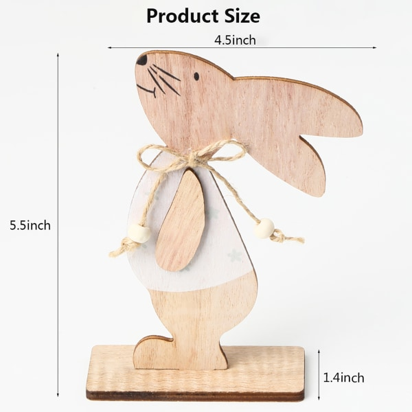 Påskharen Träprodukter Påskdekorationer Stående kanin W