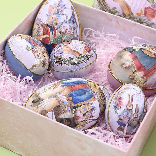 Påskägg Kanin Chick Printing Påskägg Formad Godis Box Ti