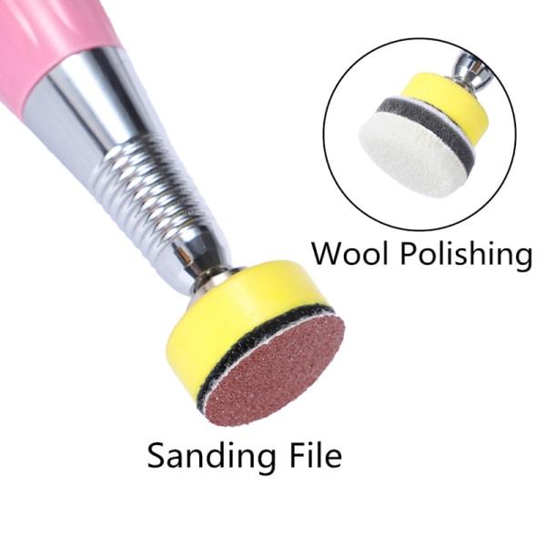 Elektrisk fotfil Ersättning Sandpapper Callus Remover Grindin