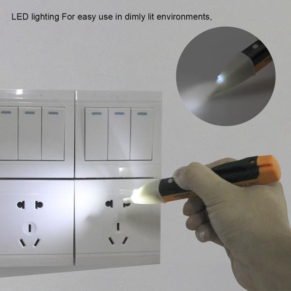 Elektrisk indikator 90-1000V uttagsspänning för vägguttag