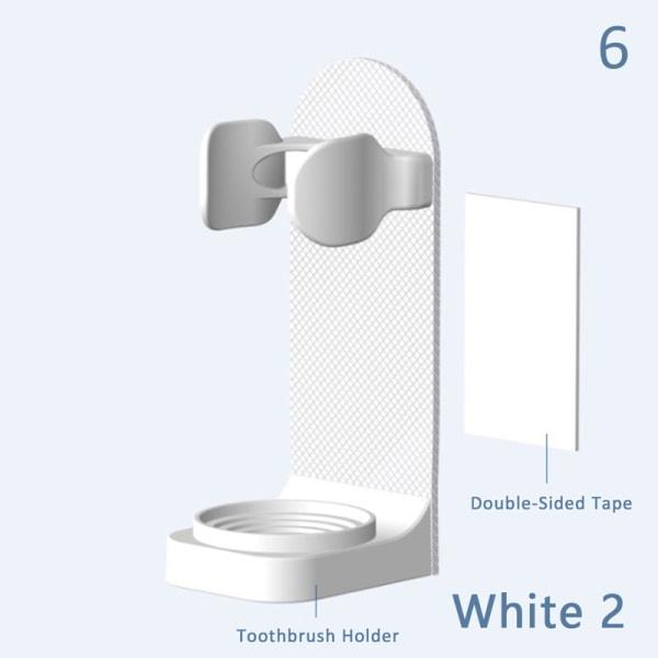 Elektrisk tandborstehållare Väggfäste Elastisk hållskydd Spara