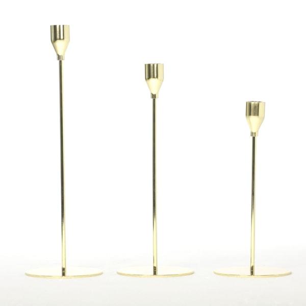 Europeisk metall Ljusstake Enkel gyllene bröllopsdekoration