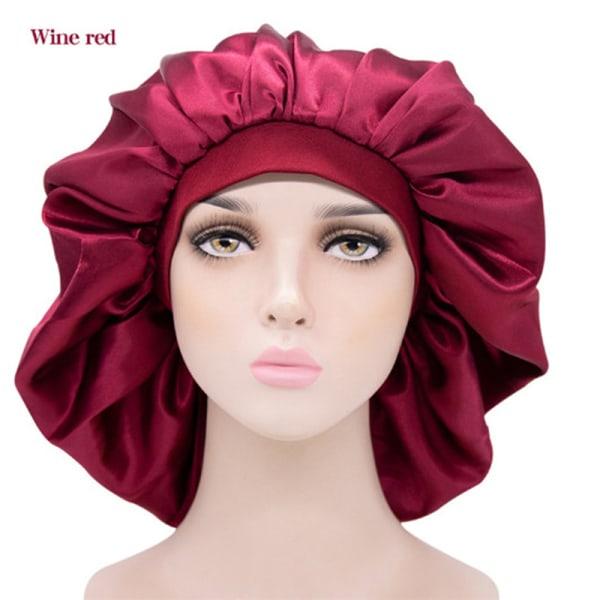Extra Large Satin Sleep Cap Waterproof Shower Cap Women Hair Tr Green
