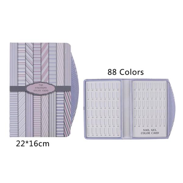 False Nail Color Book Display Nail Gel Polish Card Chart Palett