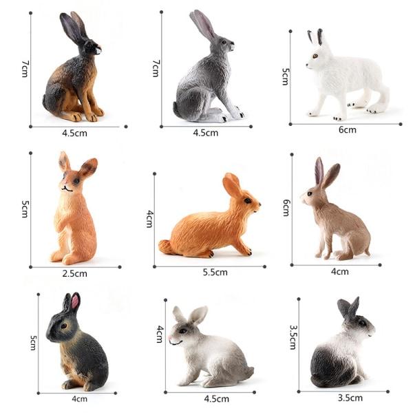 gård kanin modell leksaker för barn barn söt mini djur figuri