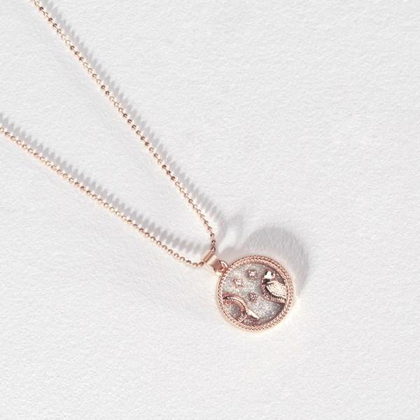 Mode 12 Constellation Halsband för kvinnor Män Runda hänge C