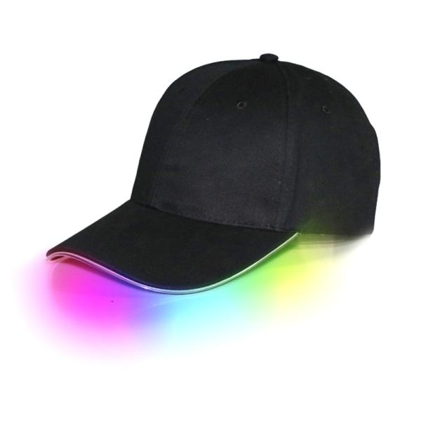 Mode LED Luminous Baseball Hat Cool Outdoor Motion Night Ru