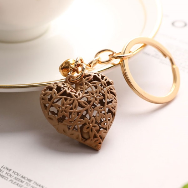 mode metall hjärta nyckelring färgglada hjärta metall klocka nyckel cha