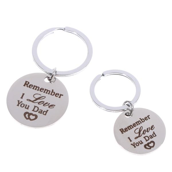 Fars Day Keychain Pappa födelsedagspresenter minns jag älskar dig pappa
