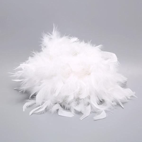 Feather Shade Metal Bordslampa Vintage Night Light Soft Bedroo