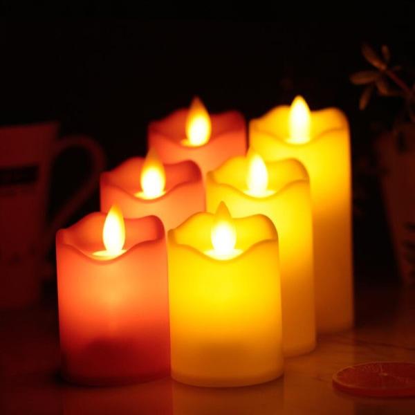 Flameless LED El-ljus Te Ljus Nattlampa Bröllop Pa
