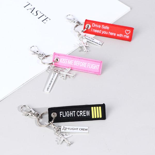 flyg nyckelring ställa kyss innan flygbesättningen kör säkra flygplan