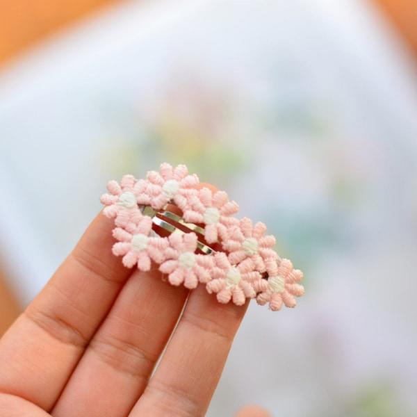 blomma insvept snäpp hår klipp för småbarn flickor söta färska 5cm