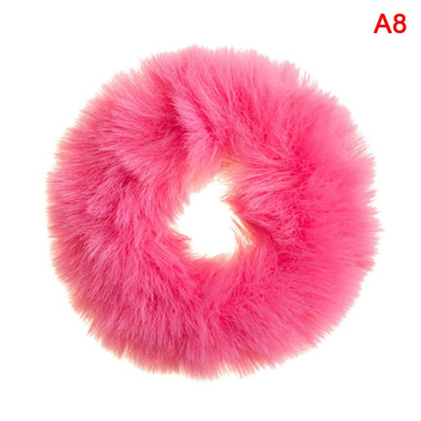 Fluffy Furry Cute Elastic Hair Ring   HairHair Rope Ties Women  A8