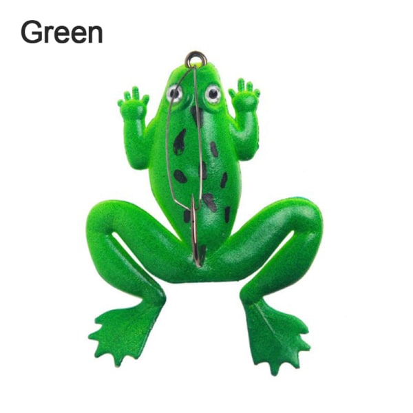 Frog Fishing Lure Artificial Fishing Silicone  Soft Bait Frog L Green