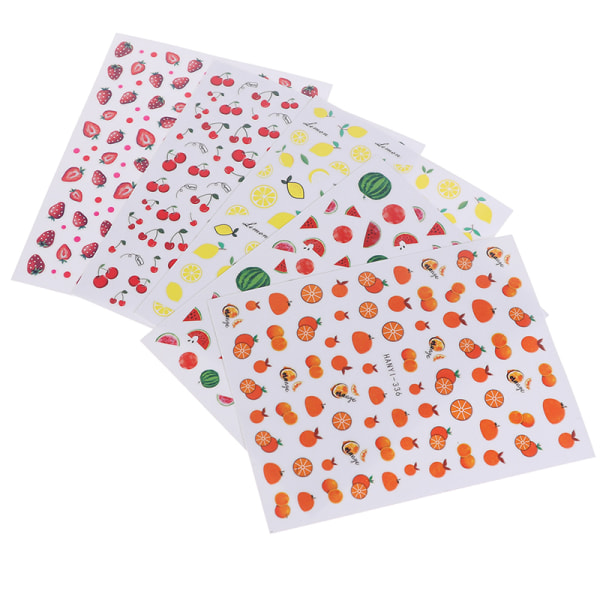 Fruktklistermärken avokado jordgubbsspikdekaler 3D spikdekaler