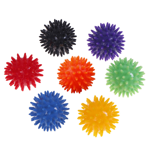 Full Body Spiky Massage Ball Hard Stress Ball 6cm For Fitness S Green