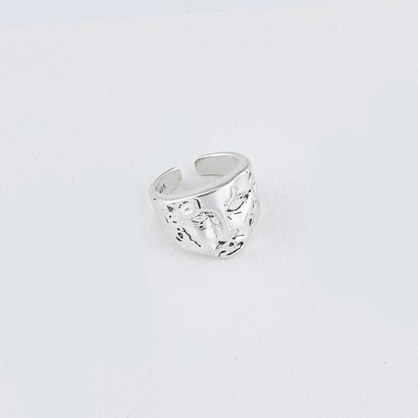 gotiska minimalistiska geometriska porträtt tjocka ring smycken