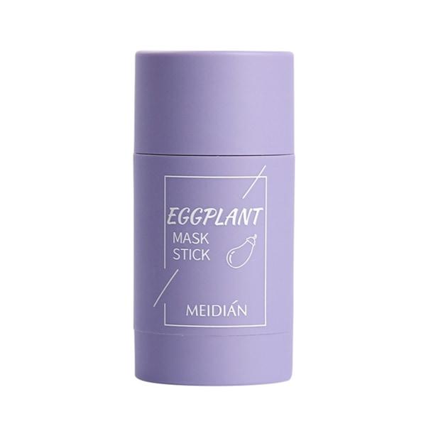 Green Tea Stick Natural Mask Eggplant Cleans Pores Mask Blue Eggplant