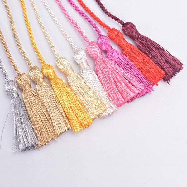 heminredning hängande rep siden frans nyckel tofsar DIY utsmyckning cu