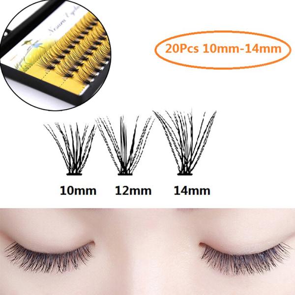 Individuell 3D Wave Mink Black Silk Eyelashes Extension False Ey