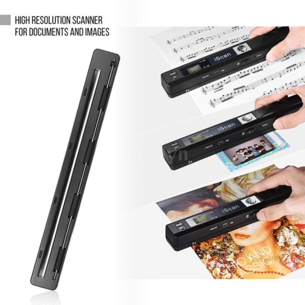 ISCAN01 HD Portable Scanner 900dpi A4 Color Handheld Mini New D Red