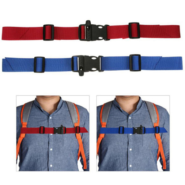 Kids Buckle clip strap adjustable chest harness bag backpack sh Red