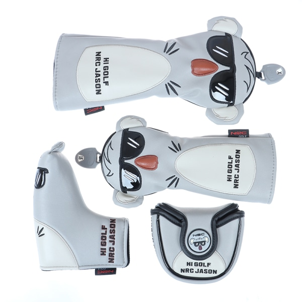 Koala Wood Head Covers 460cc Driver Fairway Woods Hybrid Putter Fairway Cover