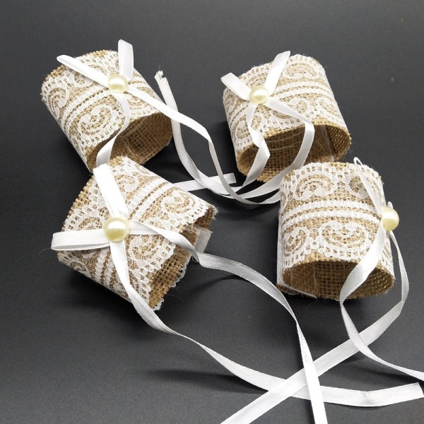 Lace Napkin Ring Buckle Wedding Table Burlap Napkin Ring Party