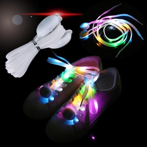 LED-skosnören Blixtljus Upp Färger Glödblinkande bomullssko