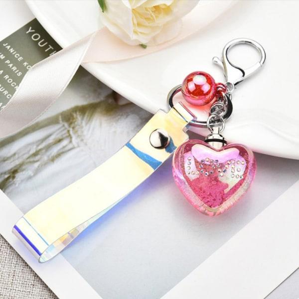 älskar glödande nyckelring bilnyckelhållare för vänner gåvor akryl
