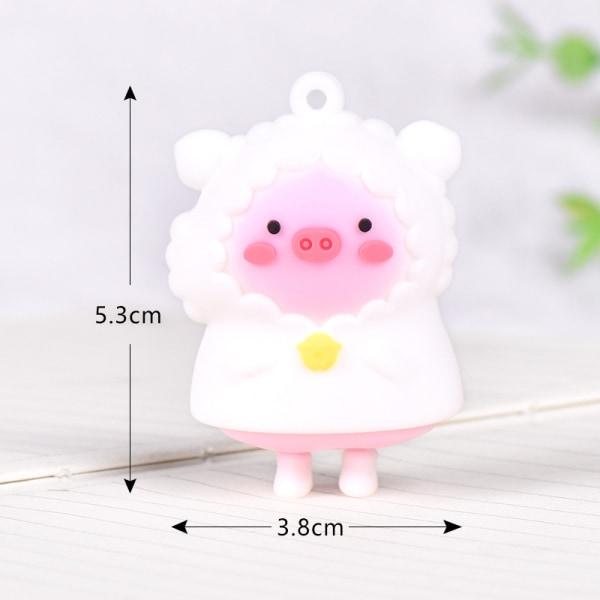 härlig regnrock gris liten staty mini staty hantverk figur orn