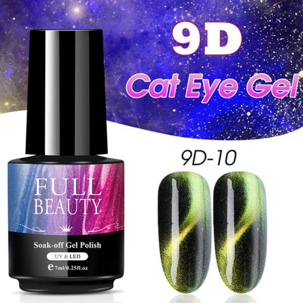 Magnetic Cat Eye Nail Gel Polish Gradient Laser Long Lasting Na A10