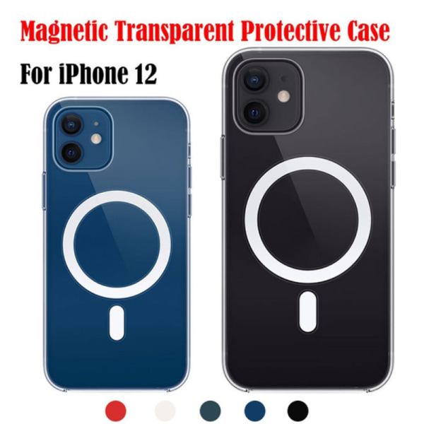 Magnetic Mobile Case for I12 Phone Case Transparent Protective  Green 12 Mini