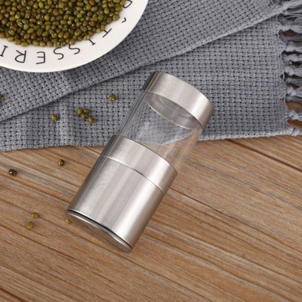 Manuell peppar rostfritt stål Salt Pepper Mill Grinder Home Kit
