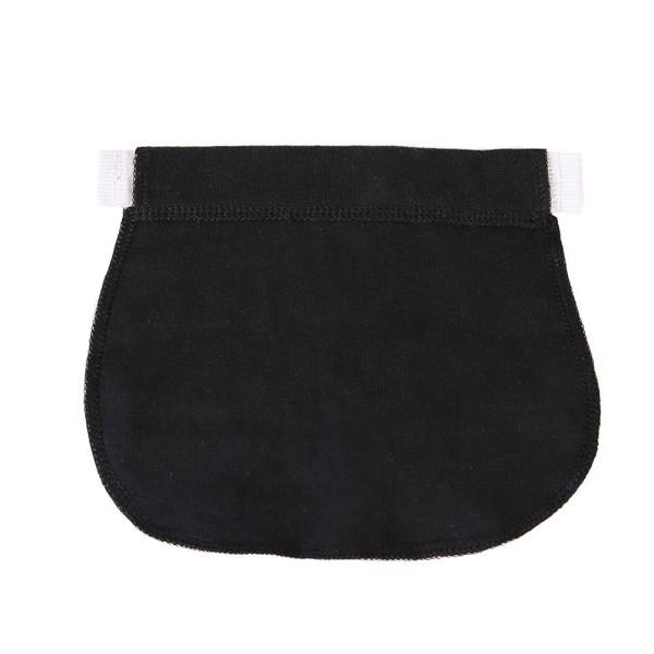 Maternity Pregnancy Waistband Belt ADJUSTABLE Elastic Waist Ext Black