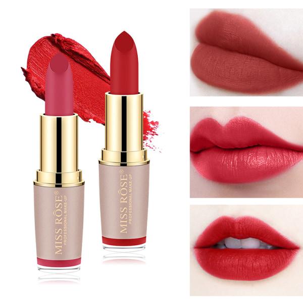 Matte Velvet Golden Tube Lipstick Långvarig Sexig Röd Lipstic