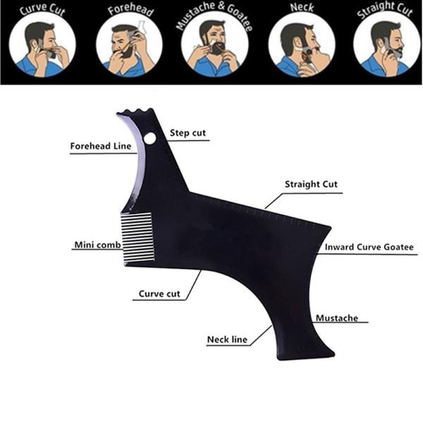 Men'S Beard Combs Shaping Styling Trim Template Stencil Comb B