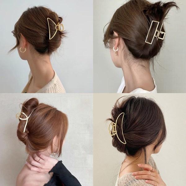 metall geometrisk hår klo för kvinnor damer elegant hår mode