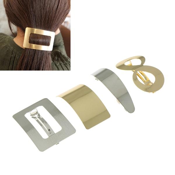 Metal Gold Woman Girl Hair Styling Hair Clip Geometry Hair Clip