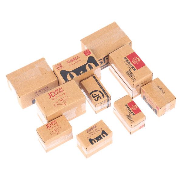 mini expressbox kub presentförpackning miniatyr dockhus presentförpackning furn