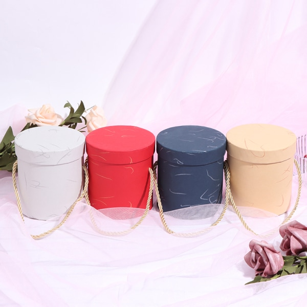 Mini Lid Hug Bucket Vase Replacement Gift Box Packaging Boxes F Black