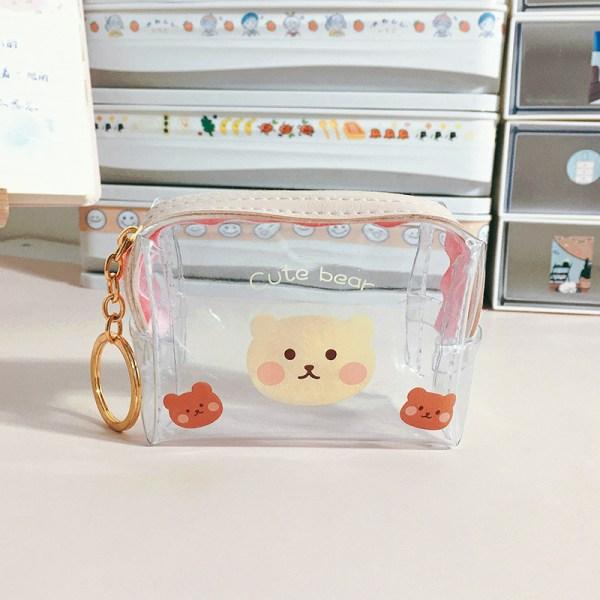 mini transparent plånbok myntväskor väska koppling handväska kvinnlig ke