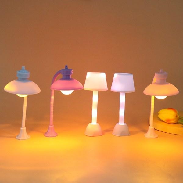 miniaturer dockhus vägljus modell harts hantverk mikro landskap